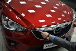 Хром накладка на передний край капота (кромка капота) для Mazda CX-5 2011- (Kindle, CX5-C21)