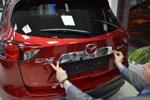 Хром накладка над номером для Mazda CX-5 2011+ (Kindle, CX5-C22)