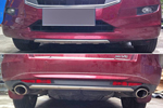 Накладки на передний и задний бамперы для Honda Crosstour 2012+ (Kindle, HC-B21-22)