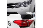 Хромированные накладки передних и задних фар для Toyota RAV4 2013+ (Kindle, RV-L31-L33)