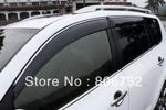 Ветровики (дефлекторы окон с хром вставкой) для Toyota RAV4 2013+ (Kindle, RV-V31)