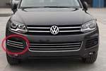 Хром накладки на боковые решетки бампера для Volkswagen Touareg 2010+ (Kindle, TR-F11)