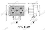 Светодиодная фара ближнего света HML-1150 (Hanma, HML-1150)