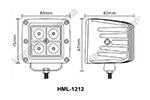 Светодиодная фара дальнего света HML-1212 (Hanma, HML-1212)