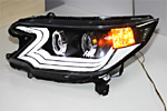 Передняя светодиодная оптика «Ангельские глазки» для Honda CRV 2012- (JUNYAN, HON.CRV.TL.01)