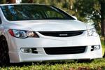 "Юбка переднего бампера ""Mugen-style"" Honda Civic 4D 2006- (AD-Tuning, HC06-FS01)"