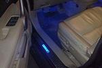 Накладки на пороги с подсветкой Honda CR-V 2007- (BGT Pro)