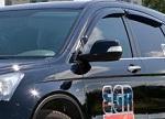 Дефлекторы окон (темные) Honda CR-V 2007- (EGR, 92434 016B)