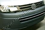 Хром накладка на решетку бампера Volkswagen T5 Transporter/Multivan 2010- (Omsa Prime, 7530083)