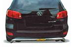 Защита заднего бампера Hyundai Santa Fe 2006-2010 (Power Ful, HT-B066)