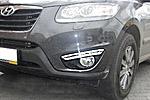 Дневные ходовые огни DRL в штатное место для Hyundai Santa Fe 2010+ (LONGDING, DRL-HD-06)