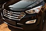 Дефлектор капота (темный) для Hyundai Santa Fe 2013- (EGR, 014081)