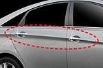 Хром накладки дверных ручек для Hyundai Sonata 2011- (JMT, HYUNSON11.HC.01)
