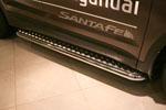 Пороги с листом d60 для Hyundai Santa Fe 2013- (Союз-96, HYSF.82.1622)