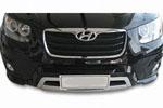 Защита переднего бампера Hyundai New Santa Fe 2010- (HYUSFEF101)
