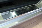 Накладки на внутренние пороги (нерж.) для Hyundai I10 2008- (Nata-Niko, P-HY07)
