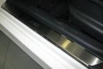 Накладки на внутренние пороги (нерж.) для Hyundai I30 2007-2011 (Nata-Niko, P-HY11)