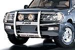 Дуга передняя Lexus LX 470 98- 3R с защитой фар (Jaos, 125015)