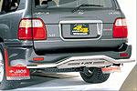 Защита задняя Lexus LX 470 98- труба без оригинального крепежа запаски (Jaos, 226010)