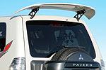 Задний спойлер Mitsubishi Pajero Wagon 2007- карбоновый (Jaos, 860011/861320)