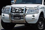 Дуга передняя Mitsubishi Pajero III (V60) 00-03 5D с защитой фар Bull Bar 3R (Jaos, 125310)