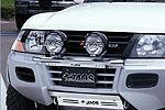 Дуга передняя Mitsubishi Pajero III (V60) 00-03 5D для дополнительной оптики (Jaos, 180310S)