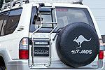Лестница задняя Toyota LC Prado 90 96-02 (Jaos, 285035)