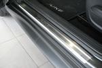 Накладки на внутренние пороги (нерж.) для Nissan Juke 2010- (Nata-Niko, P-NI07)