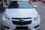 Передняя оптика для Chevrolet Cruze 2009+ (JUNYAN, FURUI-CRU-HID-CHROM)