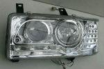 Передняя оптика для Volkswagen Transporter/T4 1991-2003 (JUNYAN, HU297E-00-1-E-00)