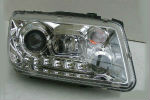 Передняя оптика для Volkswagen Bora 1998-2005 (JUNYAN, HU314EM-00-1-E-00)