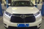 Передняя оптика (с ДХО) для Toyota Highlander (XU50) 2014+ (JUNYAN, PW-HI15)