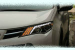 Передняя оптика (с ДХО) для Toyota RAV4 2013+ (JUNYAN, TTY008-V1T)