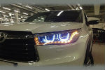 Передняя оптика (c ДХО) для Toyota Highlander (XU50) 2014+ (JUNYAN, TTY012-V1T)