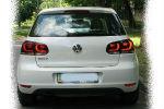 Задняя светодиодная оптика (задние фонари) для Volkswagen Golf VI 2008-2012 (JUNYAN, YAB-GEF-0183)