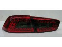 Задняя светодиодная оптика (задние фонари) для Mitsubishi Lancer X 2008+ (JUNYAN, YAB-YS-0155AR)