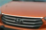 Хром накладка на передний край капота для HYUNDAI Tucson IX-25 2014+ (Kindle, HX-C43)
