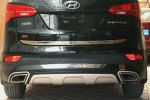 Накладка на задний бампер для Hyundai Santa Fe 2013+ (Kindle, HS-B34)