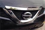 Хром накладка на передний край капота для  Nissan X-Trail 2014+ (Kindle, NX-C44)