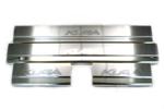 Накладки на внутренние пороги (нерж.) для Ford Kuga 2008- (Nata-Niko, P-FO18)