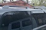 Релинги на крышу Toyota LC 100 черные