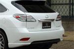 Юбка заднего бампера Lexus RX350/450h 2009- (LX-MODE)