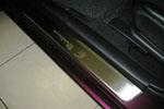 Накладки на внутренние пороги (нерж.) для Mazda 3 I 2003-2008 (Nata-Niko, P-MA05)