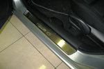 Накладки на внутренние пороги (нерж.) для Mazda 6 I 2003-2008 (Nata-Niko, P-MA10)