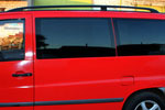 Рейлинги алюминиевые Black (концевики ABS пластик) для Mercedes Vito 2004- (Can-Otomotive, MEVI04ABSB)