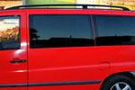 Рейлинги алюминиевые Black (концевики ABS пластик) для Mercedes Vito -2003 (Can-Otomotive, MEVIABSB)