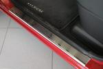 Накладки на внутренние пороги (нерж.) для Nissan Micra III 5D 2003- (Nata-Niko, P-NI10)