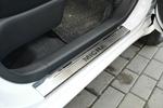 Накладки на внутренние пороги (нерж.) для Nissan Micra IV 5D 2010- (Nata-Niko, P-NI11)