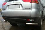 Защита задняя (уголки одинарные) для Mitsubishi Pajero Sport 2011- (Can-Otomotive, MIPAS11.RCB.SS)