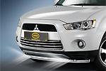 Решетка в бампер Mitsubishi Outlander 2010- (Cobra, MIT1295)
